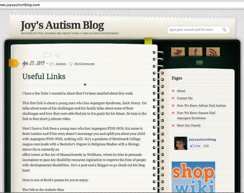 Joy's Autism Blog